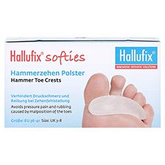 HALLUFIX softies Hammerzehenpolster Gr.M 36-41 2 St�ck - Vorderseite