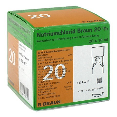 NATRIUMCHLORID 20% MPC Elektrolytkonzentrat 20x10 Milliliter N3
