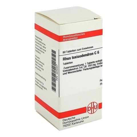 RHUS TOXICODENDRON C 6 Tabletten 80 Stück N1