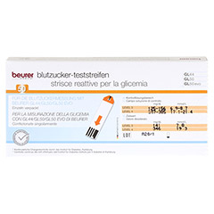 BEURER GL44/GL50 Blutzucker-Teststreifen Folie 50 Stück - Rückseite