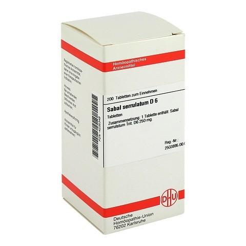 SABAL SERRULATUM D 6 Tabletten 200 Stück N2