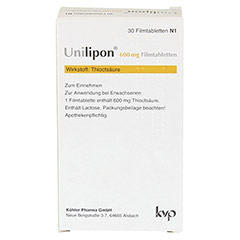 Unilipon 600mg 30 Stück N1 - Rückseite
