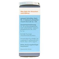 APOPET Schüßler-Salz Nr.2 Calcium phos.D 12 vet. 12 Gramm - Rechte Seite