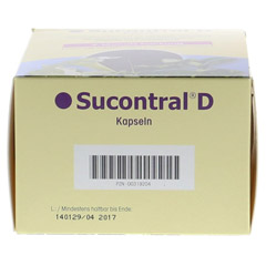 SUCONTRAL D Diabetiker Kapseln 120 Stück - Unterseite