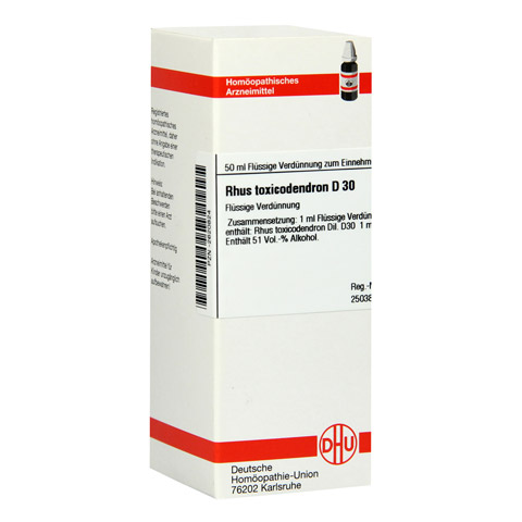 RHUS TOXICODENDRON D 30 Dilution 50 Milliliter