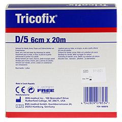 TRICOFIX Schlauchverband Gr.D 6 cmx20 m 1 St�ck - R�ckseite