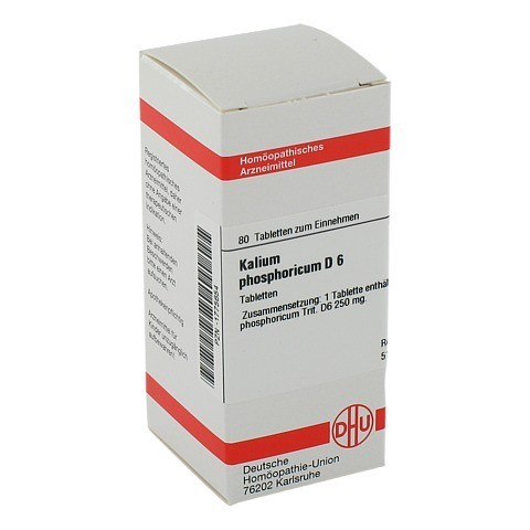 KALIUM PHOSPHORICUM D 6 Tabletten 80 St�ck N1