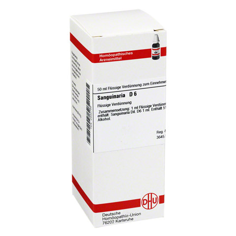 SANGUINARIA D 6 Dilution 50 Milliliter N1