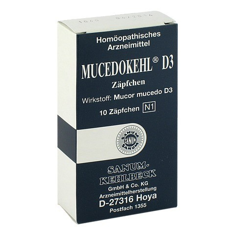 MUCEDOKEHL D 3 Suppositorien 10 Stück N1