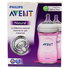 AVENT Flasche 260 ml Naturnah rosa 2 Stück - Rückseite