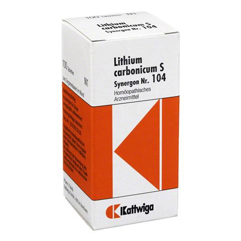 SYNERGON KOMPLEX 104 Lithium carbonicum S Tabl. 100 St�ck