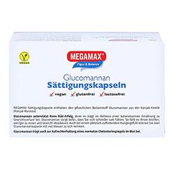 MEGAMAX Sättigungskapseln Glucomannan 120 Stück - Unterseite