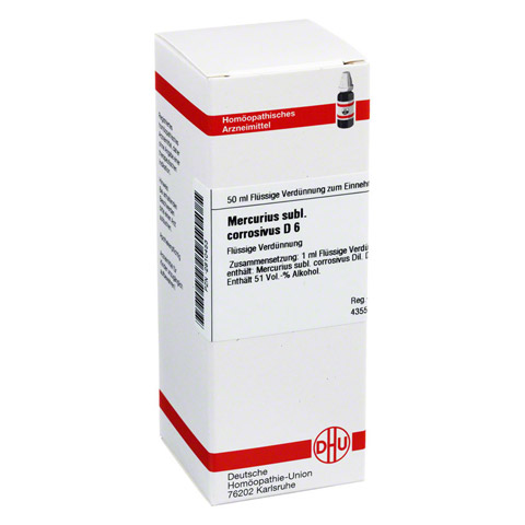 MERCURIUS SUBLIMATUS corrosivus D 6 Dilution 50 Milliliter N1