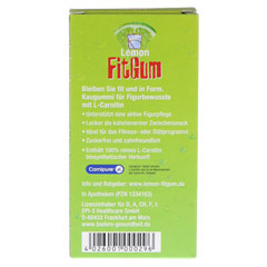 LEMON FIT Gum 31 Gramm - R�ckseite
