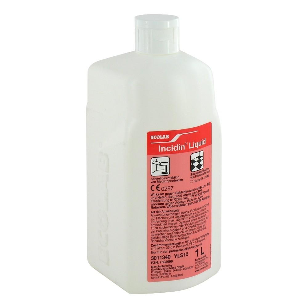 incidin liquid fl chendesinfektion spray 1 liter online. Black Bedroom Furniture Sets. Home Design Ideas