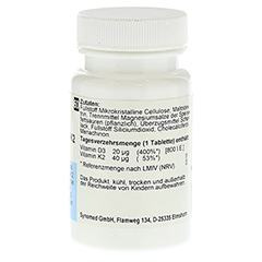VITAMIN D3 plus K2 Tabletten 60 Stück - Linke Seite