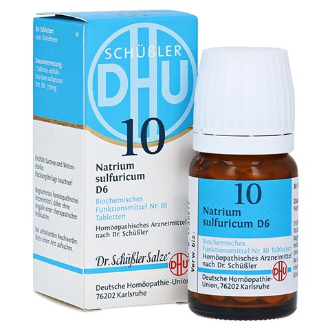 BIOCHEMIE DHU 10 Natrium sulfuricum D 6 Tabletten 80 St�ck N1