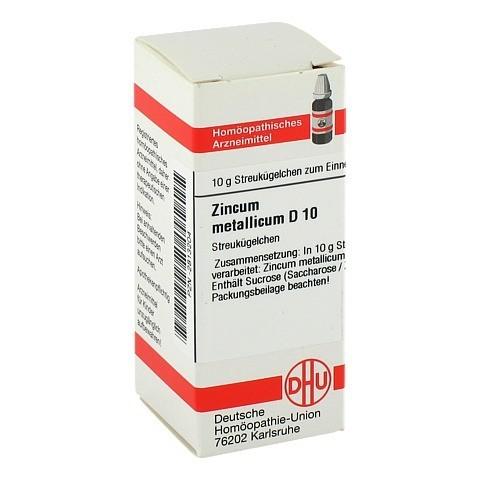 ZINCUM METALLICUM D 10 Globuli 10 Gramm N1