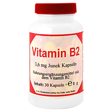 VITAMIN B2 3,6 mg Junek Kapseln 30 St�ck