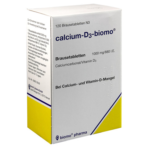 CALCIUM D3 biomo 1000 mg/880 I.E. Brausetabletten 120 St�ck N3