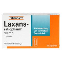 Laxans-ratiopharm 10mg Zäpfchen 10 Stück - Vorderseite