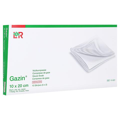 GAZIN Mullkomp.10x20 cm steril 8fach 5x2 Stück