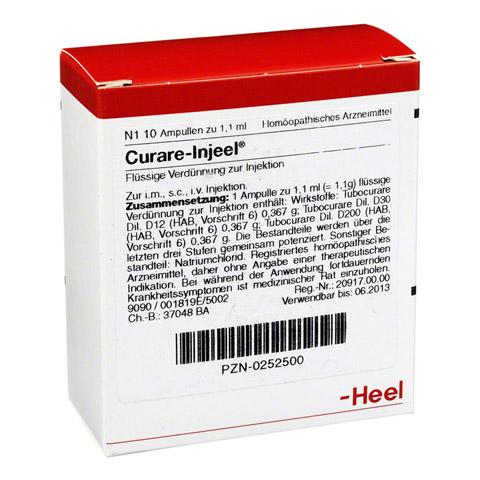 CURARE INJEEL Ampullen 10 St�ck N1