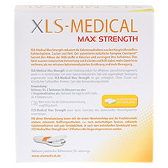 XLS Medical Max Strength Tabletten 120 Stück - Rückseite