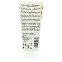 LOGONA Körperlotion Lemon & Ingwer 200 Milliliter - Rückseite