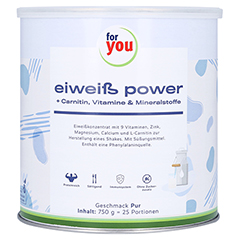 FOR YOU Eiweiß Power Pur 750 Gramm