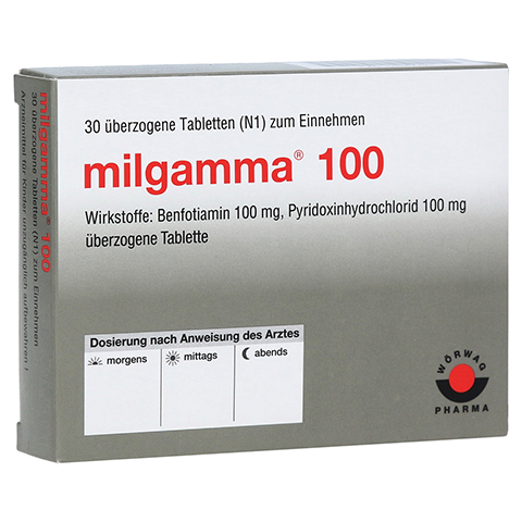 MILGAMMA 100 mg �berzogene Tabletten 30 St�ck N1