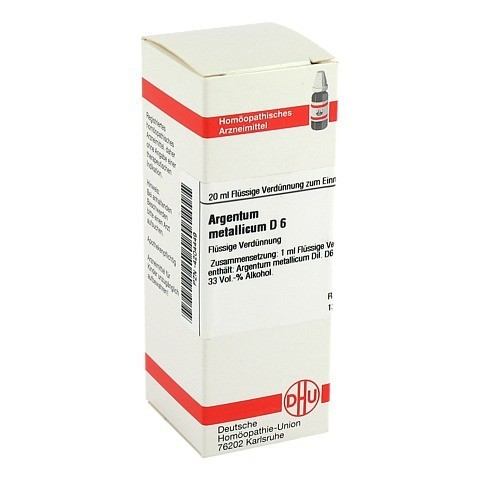 ARGENTUM METALLICUM D 6 Dilution 20 Milliliter N1