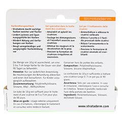 STRATADERM Narbentherapeutikum Gel 10 Gramm - Rückseite