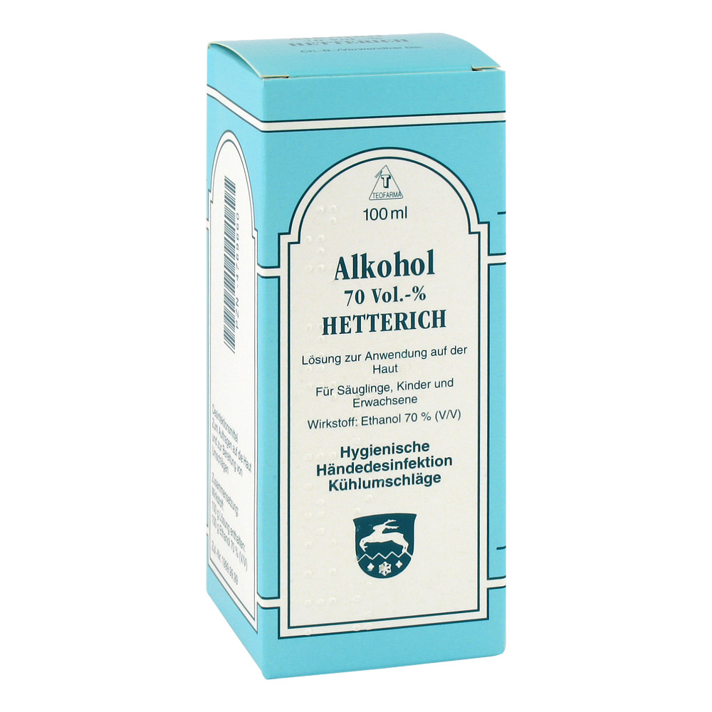 alkohol 70 v v hetterich 100 milliliter online bestellen medpex versandapotheke. Black Bedroom Furniture Sets. Home Design Ideas