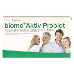 BIOMO Aktiv Probiot Kapseln 15 Stück - Vorderseite