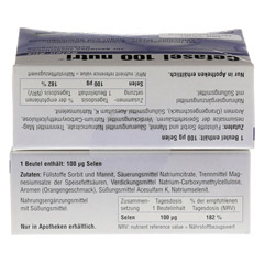 CEFASEL 100 nutri Selen Stix Pellets 40 Stück - Unterseite