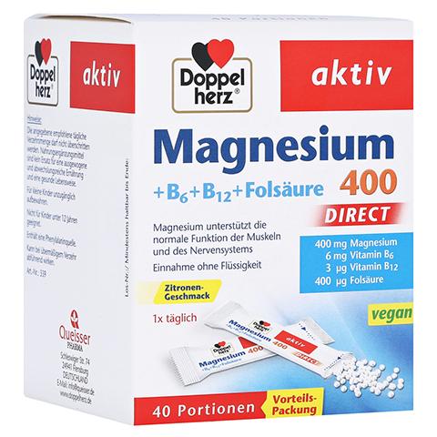 DOPPELHERZ Magnesium+B Vitamine DIRECT Pellets 40 Stück