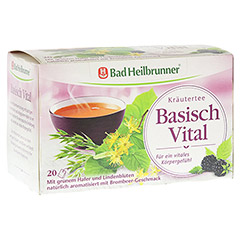 BAD HEILBRUNNER Kr�utertee Basisch Vital Filterb. 20 St�ck