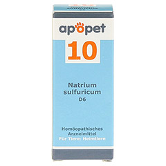 APOPET Schüßler-Salz Nr.10 Natrium sulf.D 6 vet. 12 Gramm - Vorderseite