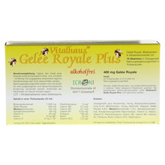 GELEE ROYALE Plus ohne Alkohol Trinkampullen 20x10 Milliliter - R�ckseite