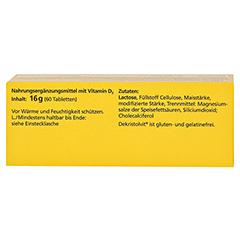 DEKRISTOLVIT D3 2.000 I.E. Tabletten 60 Stück - Oberseite