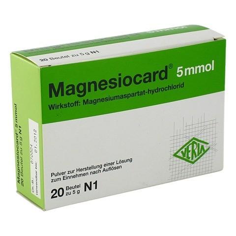 MAGNESIOCARD 5 mmol Plv.z.Her.e.Lsg.z.Einnehmen 20 Stück N1