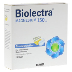 BIOLECTRA Magnesium Brausetabletten 20 St�ck