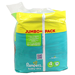 PAMPERS Baby Dry Gr.4 maxi 7-18kg Jumbo plus Pack 78 St�ck - Rechte Seite