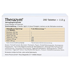 THERAZYM Tabletten 200 St�ck - R�ckseite