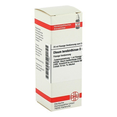 OLEUM TEREBINTHINAE D 4 Dilution 20 Milliliter N1