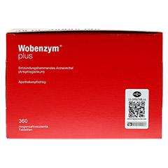 WOBENZYM Plus magensaftresistente Tabletten 360 Stück - Unterseite