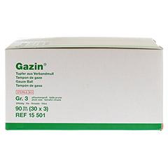 GAZIN Tupfer pflaumengroß steril Gr.3 20fädig 30x3 Stück - Rückseite