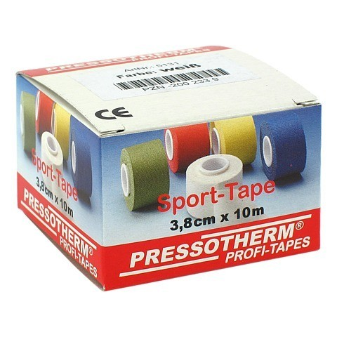 PRESSOTHERM Sport-Tape 3,8 cmx10 m weiß 1 Stück