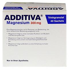 ADDITIVA Magnesium 300 mg N Pulver 40 St�ck - R�ckseite